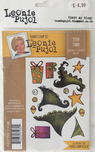 Crafters Companion Rubber Stamp Set Designed by Leonie Pujol A6 - Tree Time