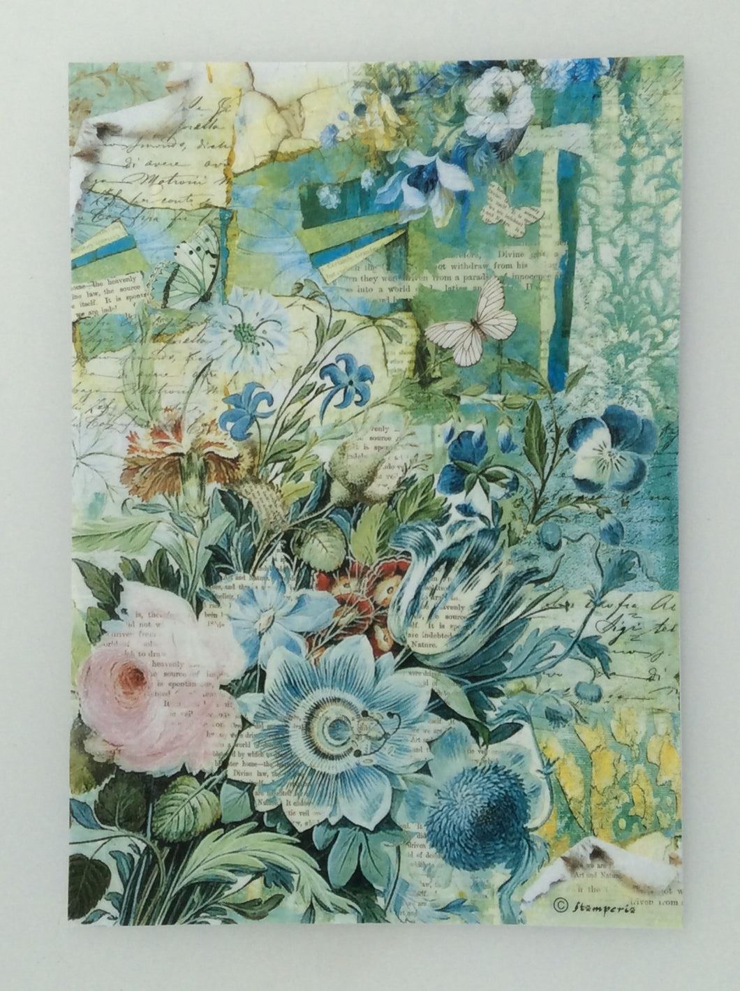 Stamperia Decoupage Rice Paper A4 Wild Flowers