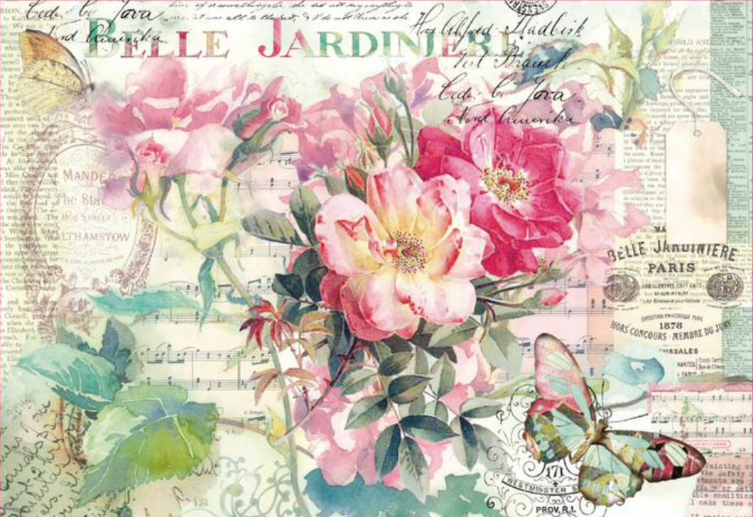 Stamperia Decoupage Rice Paper A3 Belle Jardiniere