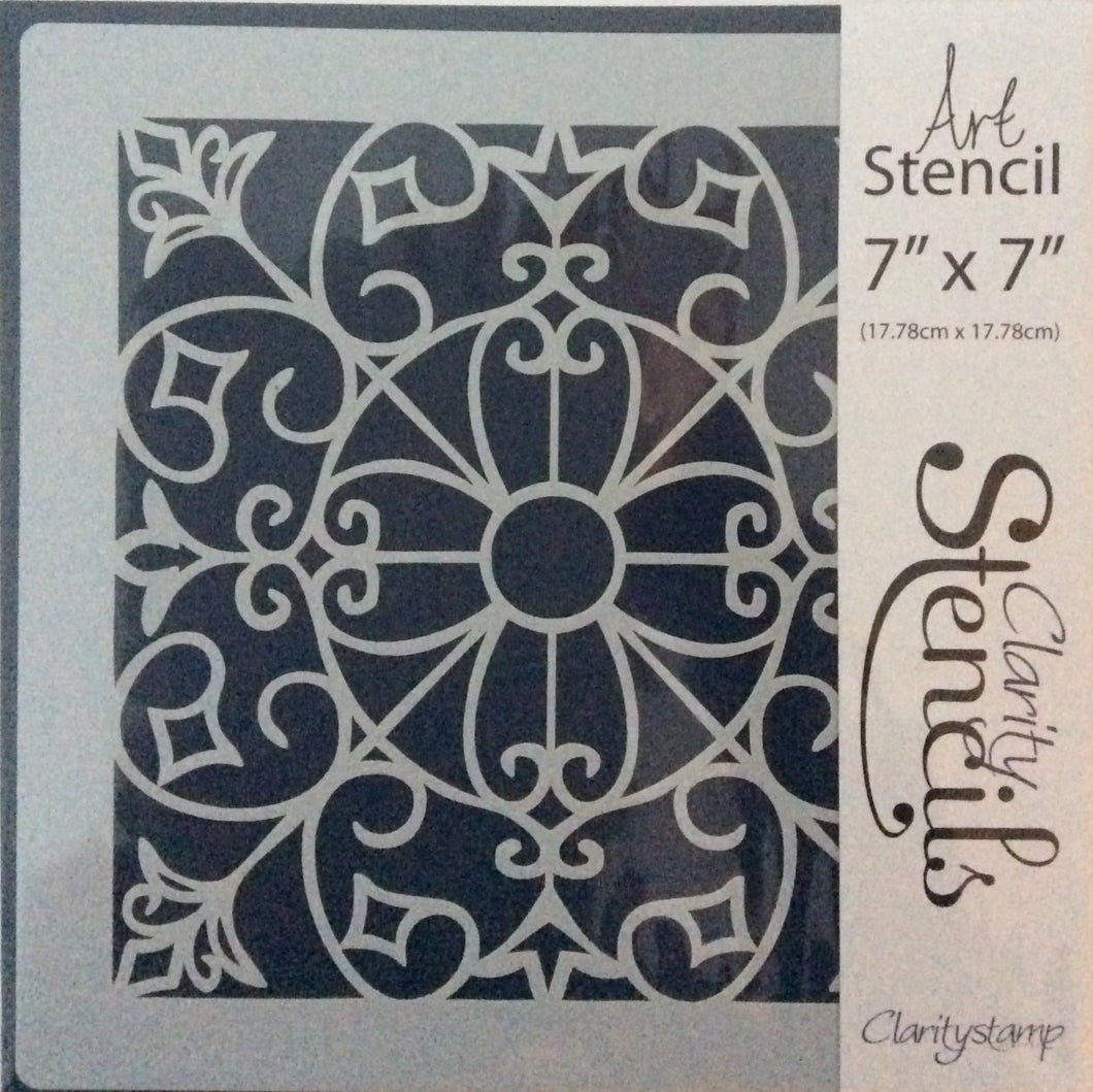 "Clarity Art Stencils Celtic Square 7""x 7"""