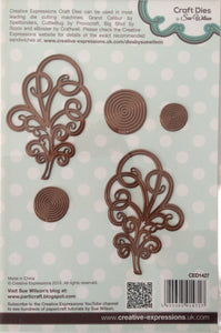 Creative Expressions Craft Dies by Sue Wilson Finishing Touches - Splendid Swirls 5 Dies