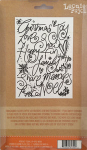 "Crafters Companion Embossing Folders by Leonie Pujol - Scribbley Wishes 5"" x 7"""