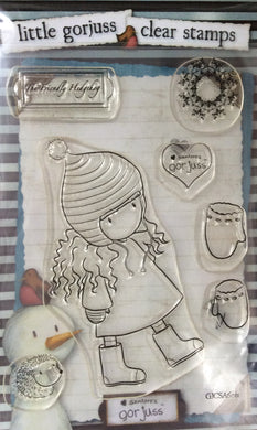 Little Gorjuss Winter Collection Clear Stamp Set-The Friendly Hedgehog