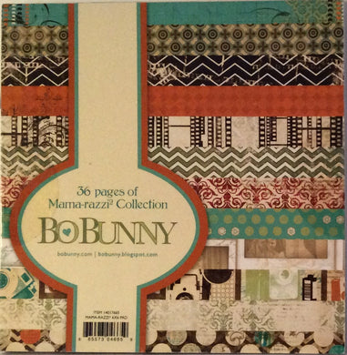 "BoBunny Mama razzi Collection 6"" x 6"" Paper Pad - 36 Sheets"
