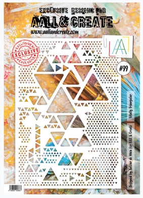 AALL & Create Stencil designed by Autour de Mwa -A4  -Totally Triangular #99
