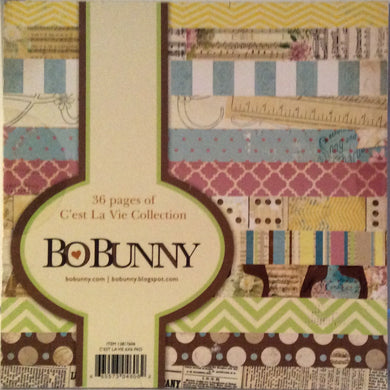 "BoBunny C'est La Vie Collection 6"" x 6"" Paper Pad - 36 Sheets"