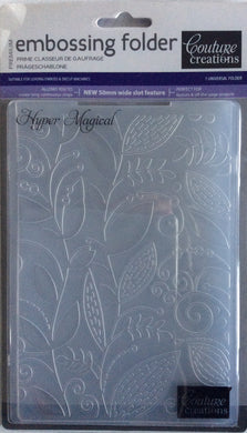 Couture Creations Embossing Folder - Fresh & Fun Collection: Hyper Magical