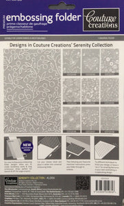 Couture Creations Embossing Folder - Serenity Collection: Alora