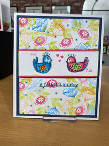 Art Inspirations by Wensdi Made A5 Clear Stamp Sheet - Funky Quirky Birds -  17 Stamps
