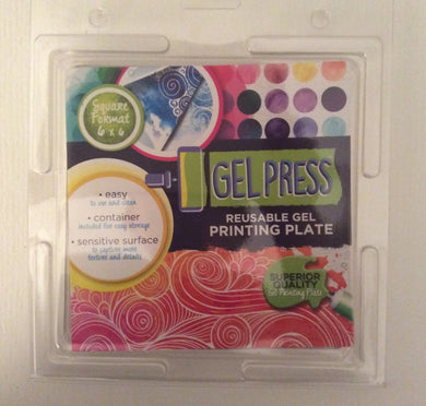 "Gel Press Reusable Gel Printing Plate Square Format 6"" x 6"""