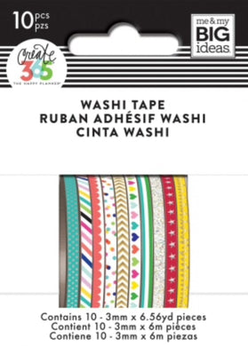 Brights Mini Washi Tapes Pack