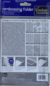 Couture Creations Embossing Folder - Art Nouveau Collection: Fireflies