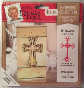 "Leonie Pujol Entwined Collection Entwined Cross Circle Heart 3"" x 5"""
