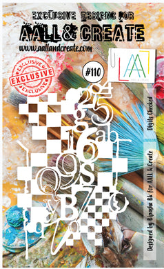 AALL & Create Stencil designed by Bipasha Bk A6 Digits Checked #110