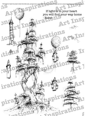 Art Inspirations with Brejanzart A5 Stamp Set - Find Your Way Home - 13 Stamps