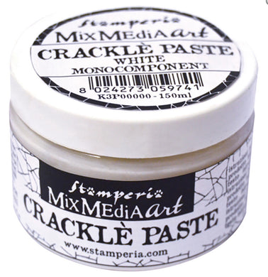 Stamperia Mix Media Art Crackle Paste - White - Monocomponent 150ml K3P37