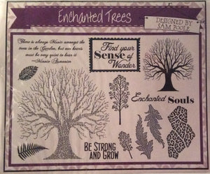 Creative Expressions Designed by Sam Poole - Enchanted Trees Rubber Stamp A5