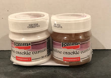 Pentart Fineline crackle Varnish 2 x 50ml components