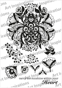 Art Inspirations by Wensdi Made A5 Clear Stamp Sheet - Sunshine Within Your Heart - 10 Stamps