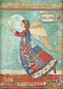 Stamperia - Make a Wish Angel Decoupage Rice Paper A4 DFSA4407