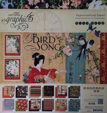 "Graphic 45 Bird Song 12"" x 12"" Paper Pad - 24 Sheets"