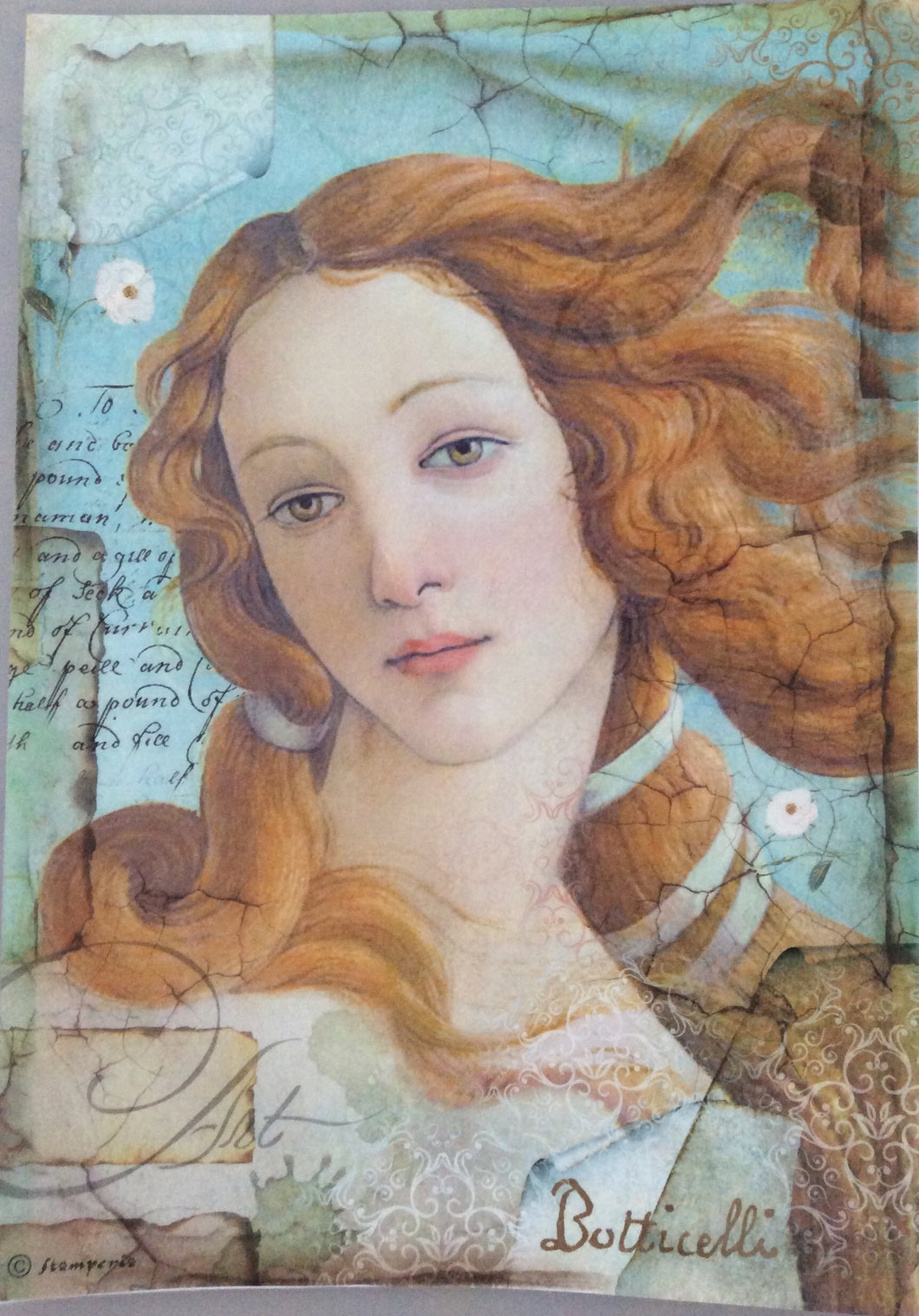 Stamperia Decoupage Rice Paper A4 Botticelli
