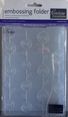 Couture Creations Embossing Folder - Fresh & Fun Collection: Fudge