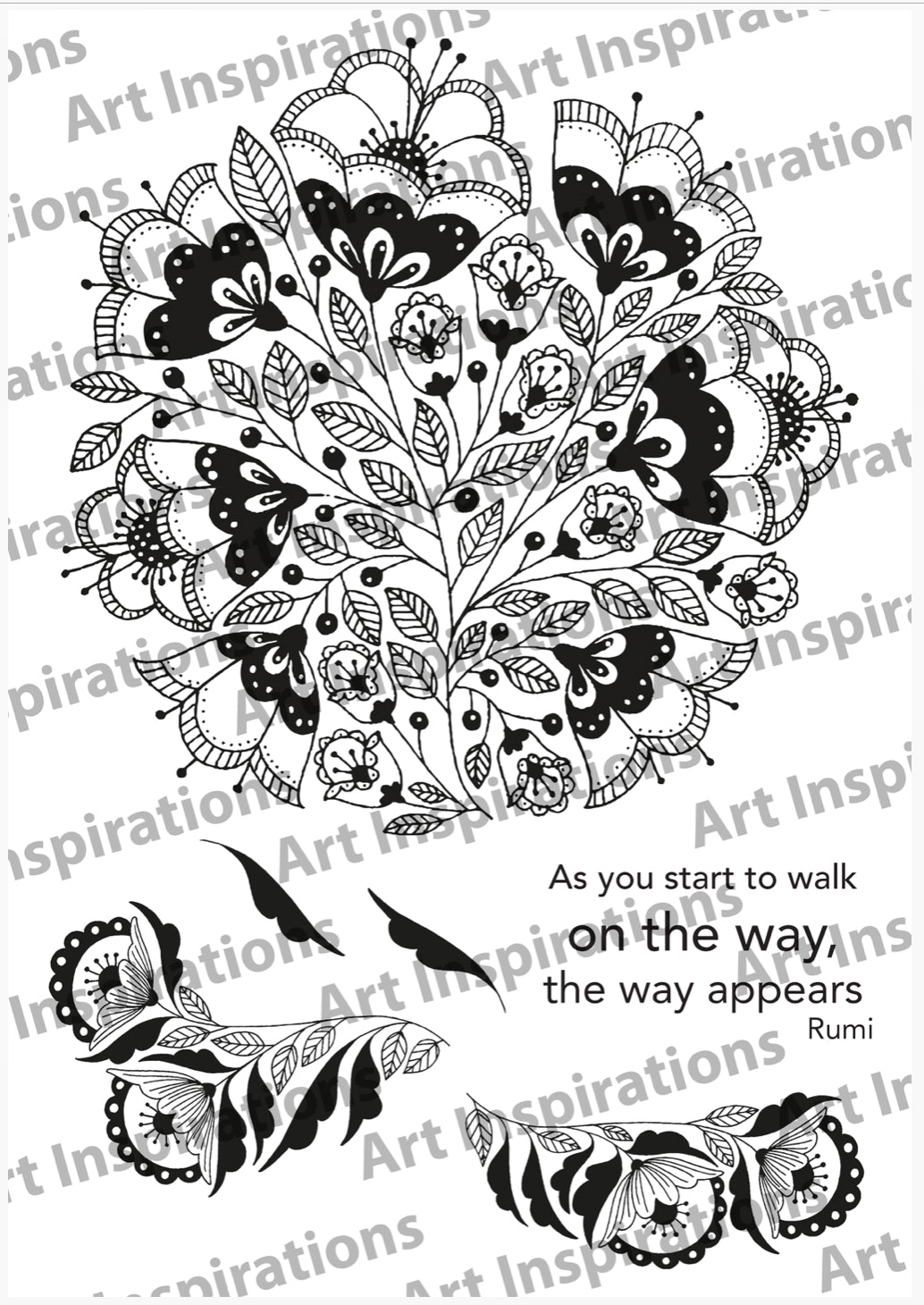 Art Inspirations by Wensdi Made A5 Clear Stamps - As You Start To Walk - 6 Stamps