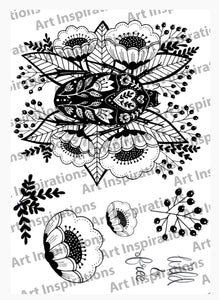 Art Inspirations by Wensdi Made A5 Clear Stamp Sheet - Wild and Free - 6 Stamps