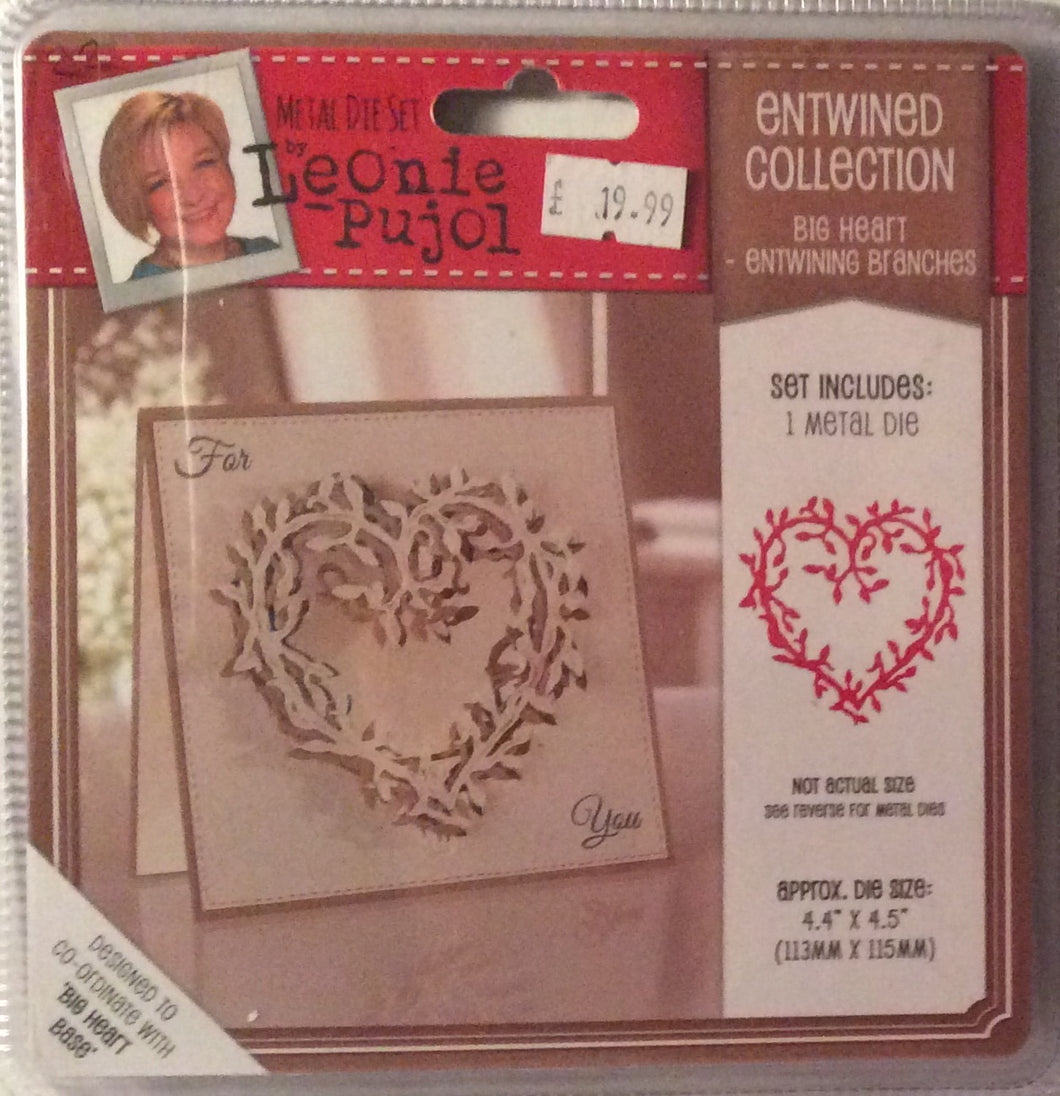 "Leonie Pujol Entwined Collection Big Heart - Entwining Branches - 4.4"" x 4.5"""