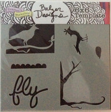 "TCW Balzer Stencils - Mini Layered Bird Scene 6""x 6"""