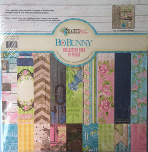 "BoBunny Prairie Chic Collection Pack 19 Pieces - 12"" x 12"" Large Papers & Stickers"