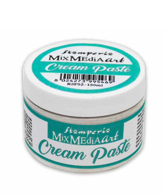 Stamperia Mix Media Art Cream Paste - White 150ml