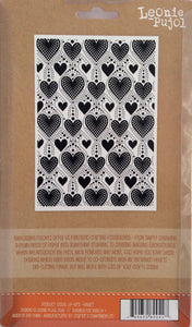 "Crafters Companion Embossing Folders by Leonie Pujol - Dotty Heart 5"" x 7"""