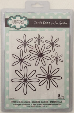 Creative Expressions Craft Dies by Sue Wilson Finishing Touches Delicate Daisies - Open Petals 8 Dies