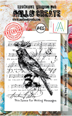 AALL & Create - A7 Clear Stamp Set Designed by Tracy Evans - Bird Collage #435