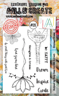 AALL & Create - A6 Clear Stamp Set Designed by Tracy Evans - Blossomed Dreams - #123