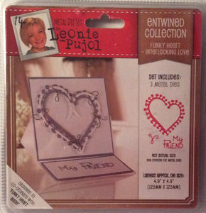 "Leonie Pujol Entwined Collection Funky Heart Interlocking Love 4.9"" x 4.9"""