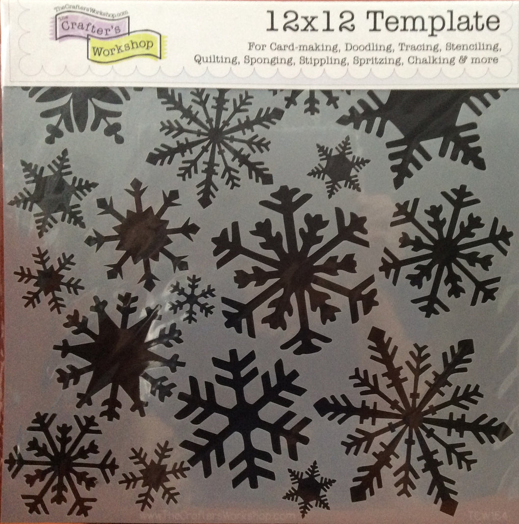 "TCW Large Stencils - Flurries 12"" x 12"""