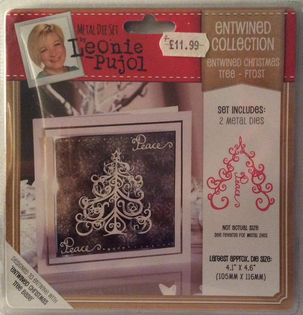 "Leonie Pujol Entwined Collection Entwined Christmas Tree Frost 4.1"" x 4.6"""