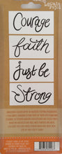 "Crafters Companion Embossing Folders by Leonie Pujol - Inner Strength  3.1""x 1.6"" Pack of 4"