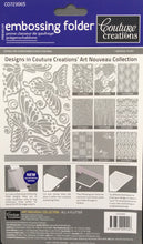 Couture Creations Embossing Folder - Art Nouveau Collection: All A Flutter