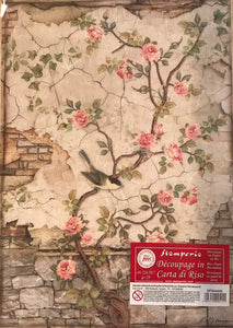 Stamperia Rice Paper decoupage A4 climbing roses DFSA4446