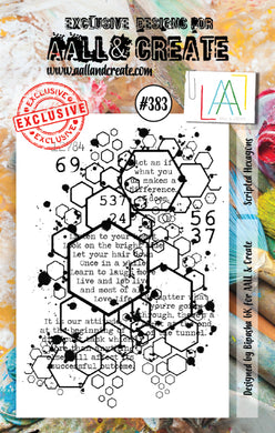 AALL & Create - A7 Clear Stamp Set Designed by Bipasha Bk - Scripted Hexagons #383