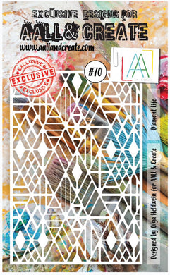 AALL & Create Stencil designed by Olga Heldwein A6 Diamont Life #70