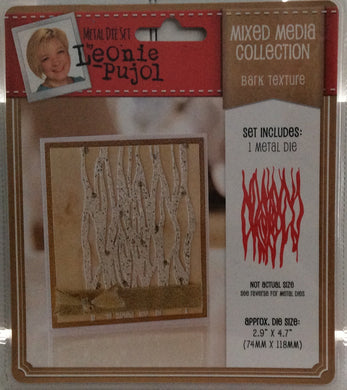 "Leonie Pujol Mixed Media Collection - Bark Texture - 1 Metal Die Set 2.9""x 4.7"""