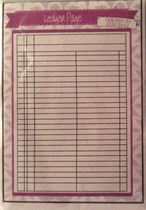 Creative Expressions Designed by Sam Poole - Rubber Stamp - Ledger Page A6