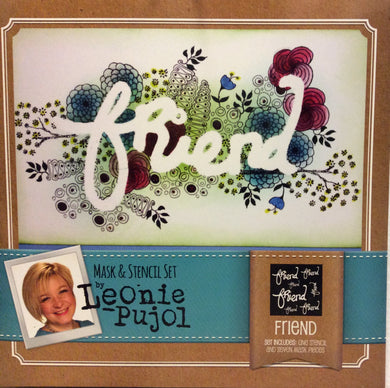 Crafters Companion Mask & Stencil Set by Leonie Pujol - Friend