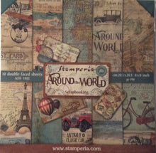 "Stamperia Around the World Scrapbooking 8"" x 8"" Paper Pad"