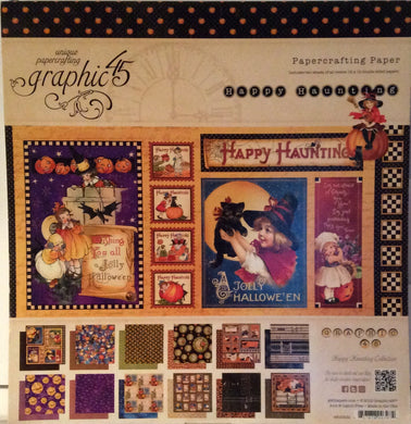 "Graphic 45 Happy Haunting 12"" x 12"" Paper Pad - 24 Sheets"